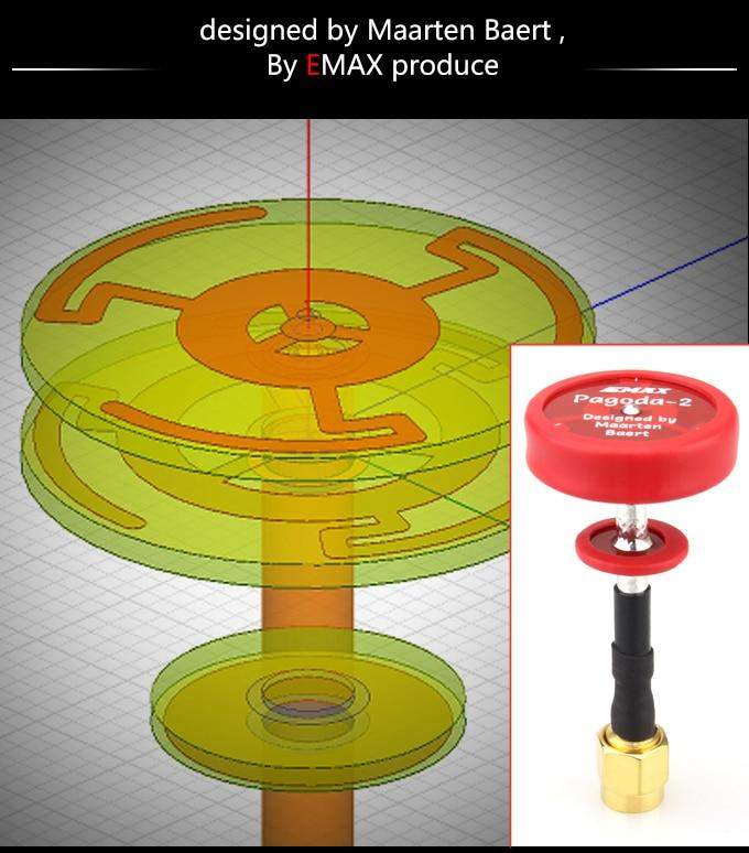 2pcs EMAX 5.8G Pagoda II SMA Image Transmitter Antenna LHPC /RHPC 50MM/80MM TX for RC FPV Racing Drone Racer Q20475/8
