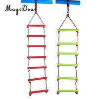 MagiDeal Safe Kids Indoor Outdoor Playhouse 6 Rungs Rope Climbing Ladder Play Sport Fun Toy for Garden Treehouse 120KG 2Colors