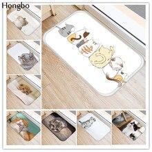 Hongbo Kawaii Добро пожаловать, коврики для ванной комнаты с изображением кота, кухонные коврики, коврики для гостиной, противоскользящие