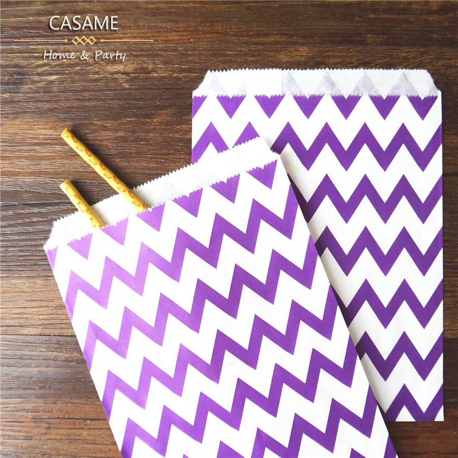 25pcs paper bag flat wedding party favor candy gift bags for Craft paper gift bags