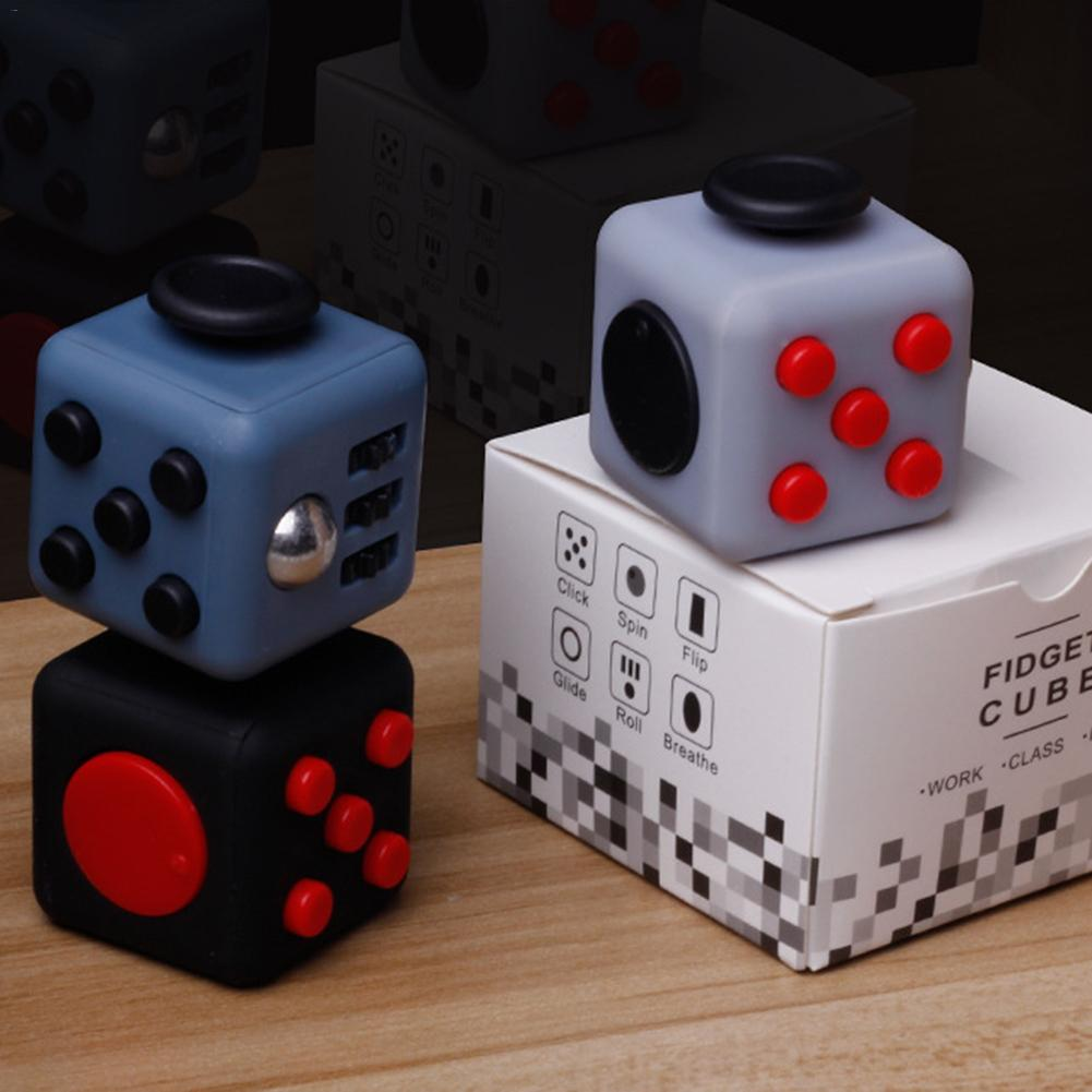 Anti Stress Cube Desk Squeeze Cube Toys In Stress Relief Hand Magic Mini Cube Decompression Toys For Children Adult