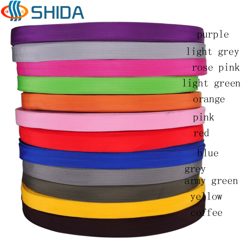 Free shipping 20mm 3 4 width 100 yards roll length Polypropylene PP webbing for garments bags