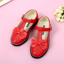 Baby's Children's leather shoes student bowknot Rhinestone Girl Princess Shoes Girls Dance Shoese Wedding Party Dress Shoes