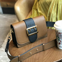 Brand 2018 Lady Cowhide Shoulder Bags Fashion Women Bags Square One Strap Retro Organ Messenger Bag