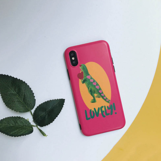 Funny Lovely Dinosaur Phone Case For iPhone