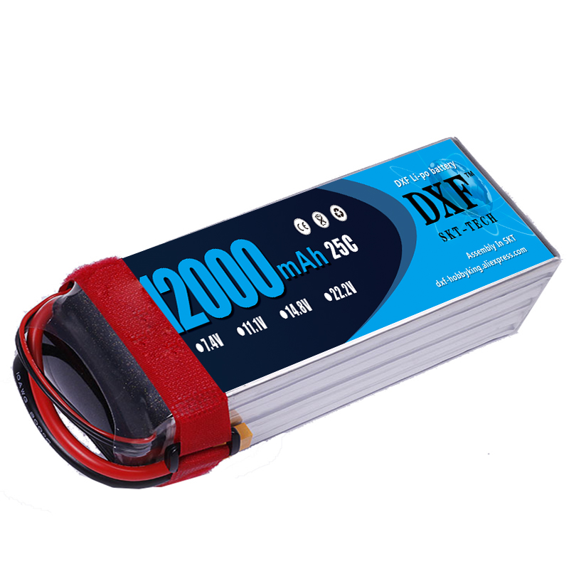 2018 DXF New Arrived 12000mAh 11.1V 3S 25C RC Lipo Battery 60C Li-polymer Bateria For RC Helicopter Drone FPV UAV Car Boat Drone 2pcs hrb rc lipo 3s battery 11 1v 3000mah 35c max 70c drone akku for rc bateria helicopter airplane car boat quadcopter uav fpv