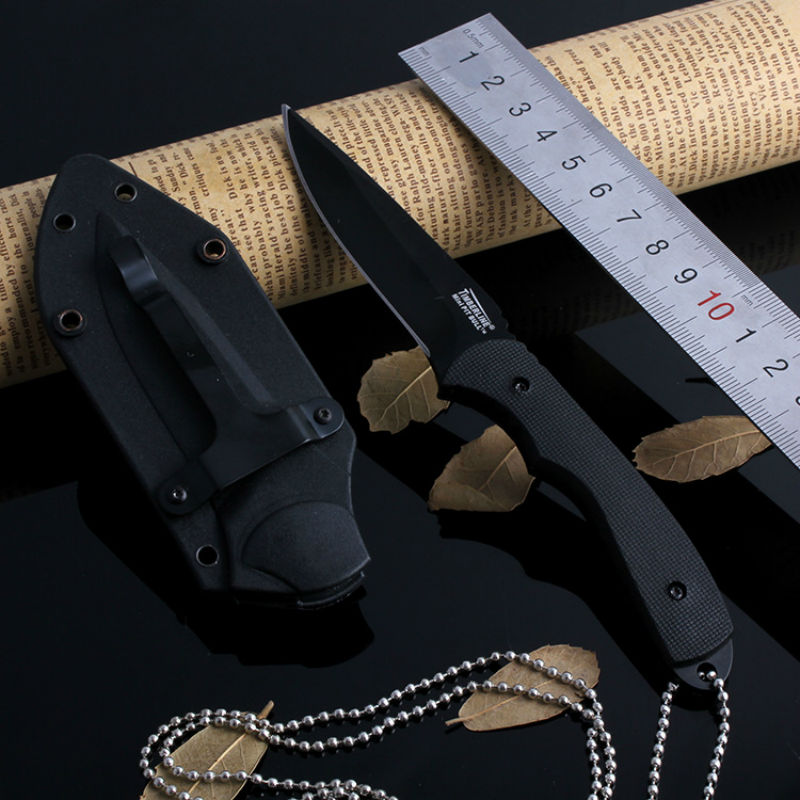 New USA Fixed Blade font b Knife b font Necklace Camping Survival font b Knives b