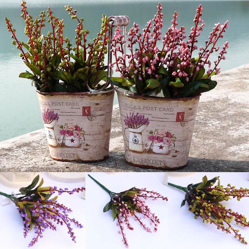 artificial fake convallaria lily flores ramo de la boda home garden decoracin artesana arreglo floral