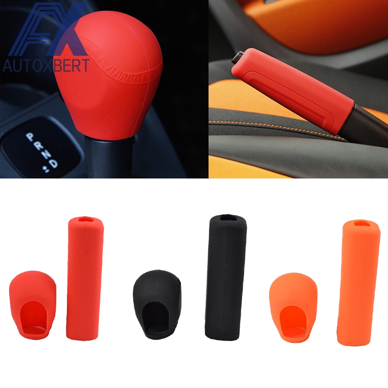 Interior Accessories 1pc Tailor Fit Car Silicone Gear Head Gear Knob Cover For Smart W451 W453 Fortwo Forfour Handbrake Cover Case Lever Stick Skin Gear Shift Collars