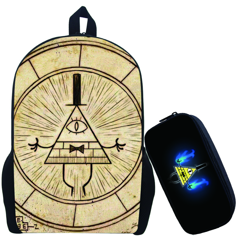 Children Anime Gravity Falls Backpack Boys Girls Cartoon Adventure Time Backpacks Kids School Bags Bookbag Daily Backpack