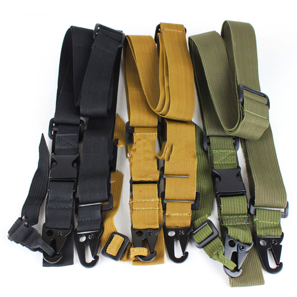 Tactical 3 Three Point Rifle Sling Adjustable Bungee Tactical Airsoft Gun Strap System Paintball Gun Sling for Airsoft Hunting