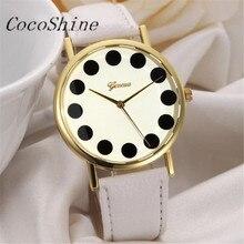 Lide CocoShine A-733 Moda Da Menina Das Mulheres Pulseira de Couro Quartz Analógico Relógios Relógio de Pulso por atacado Frete grátis