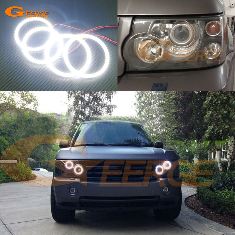 For Land Rover RANGE ROVER VOGUE 2006-2009 Xenon Headlight Excellent Ultra bright illumination smd led Angel Eyes Halo Ring kit дефлекторы окон novline темный для land rover range rover 2002 2012 комплект 4шт nld slrrr0232