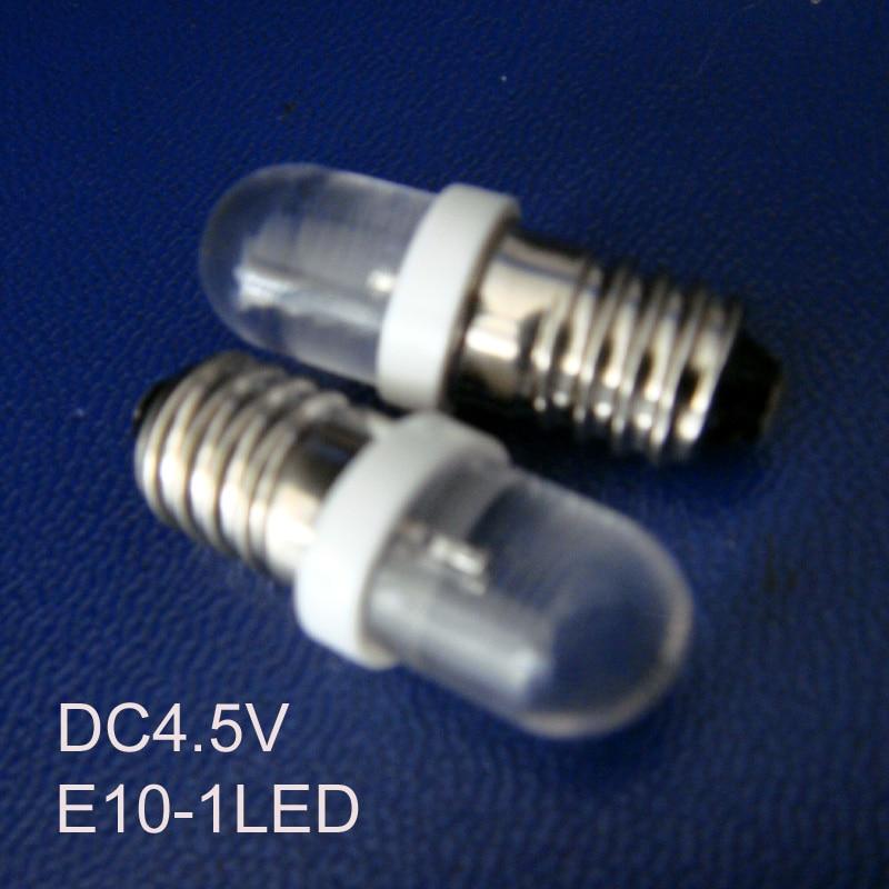 Led Bulbs & Tubes High Quality 4.5vdc E10 Led Indicator Light,led E10 Bulb,led E10 Dc4.5v Dashboard Warning Indicator Free Shipping 100pcs/lot Exquisite Craftsmanship;