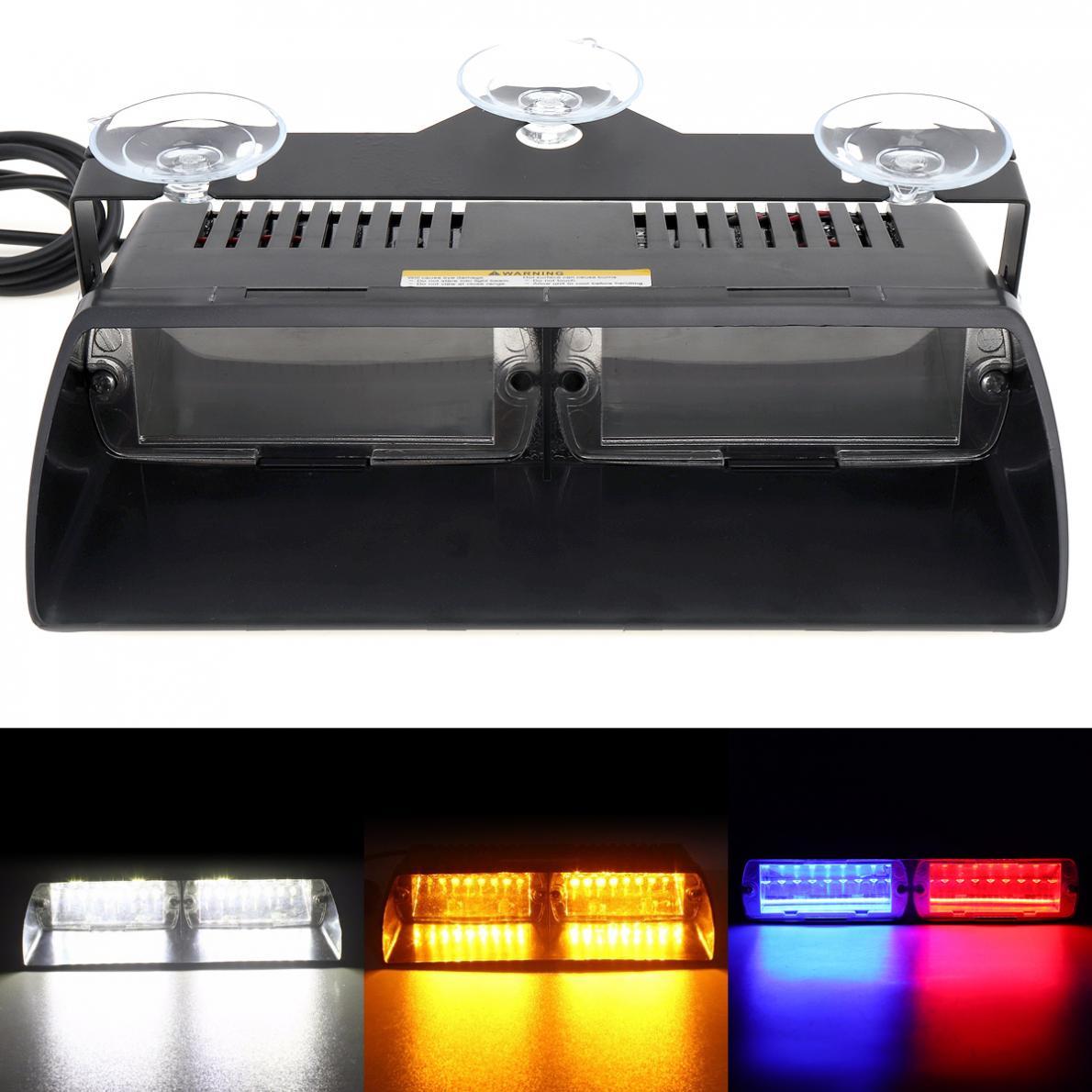12V 16LED 48W Viper S2 Super Bright Car Signal Flashing Led Warning Light Police Strobe Flash Emergency Lights