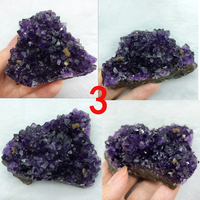 Natural Uruguay Amethyst Geode Clusters Chunk Purple Crystal Flower Drusy Points Wands Quartz Crafts for Gift Home Decoration