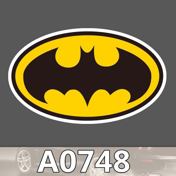 Bevle A0748 Batman Sign Waterproof Sticker Notebook Phone Laptop Skateboard Fridge Graffiti Cartoon Stickers