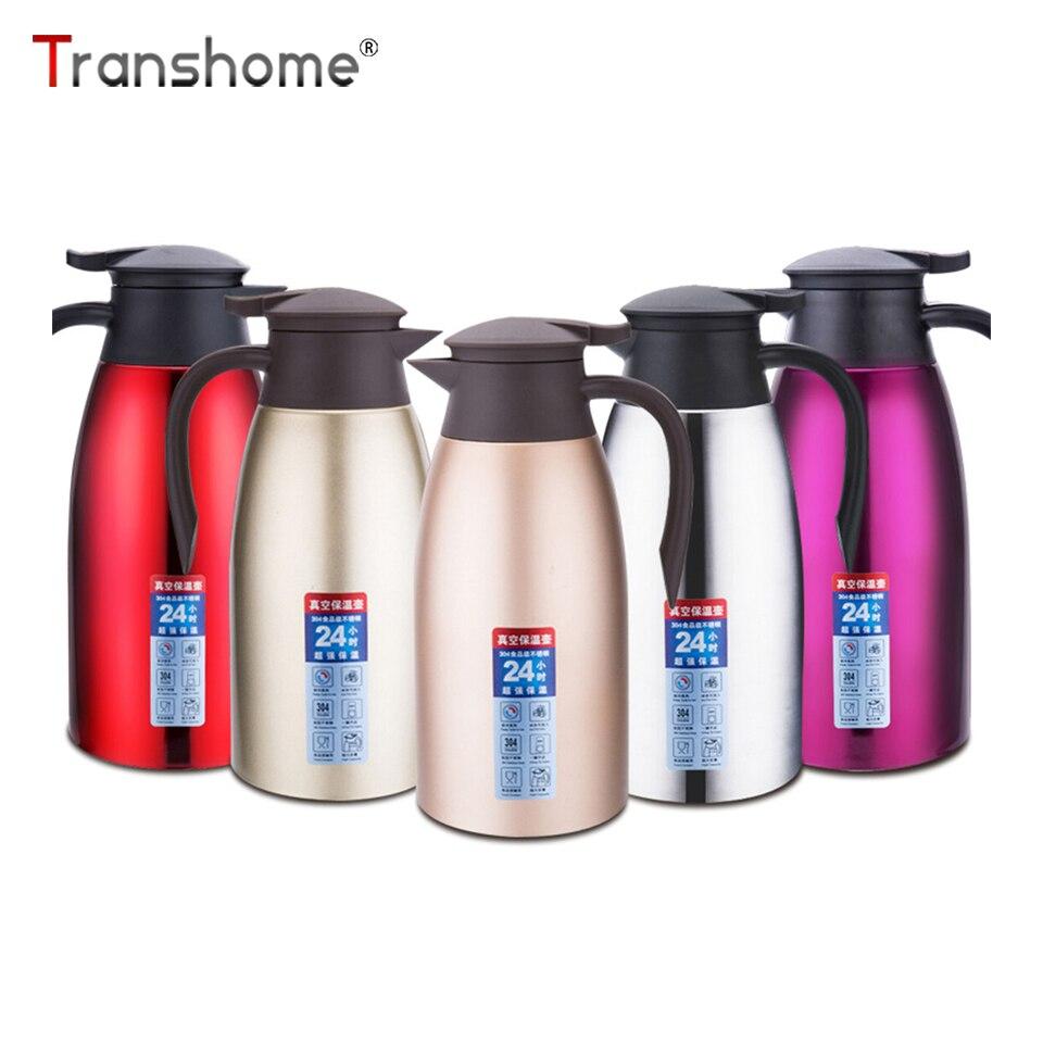 26e61ee2b86 Transhome 2L Thermos Becher Große Kapazität Thermos Tasse Edelstahl Vakuum  Fask Für Kaffee Thermo Flasche Für Suppe Drink