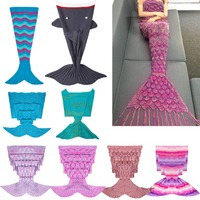 IEFiEL Handcrafted Crochet Knitted Mermaid Tail Sofa Blanket Sleeping Bag For Adult Womens Fashion Costumes Cosplay