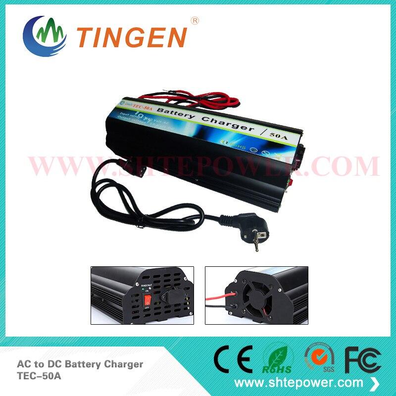 Acide de plomb AC 220 V-240 V à DC 12 V 50A chargeur de batterie