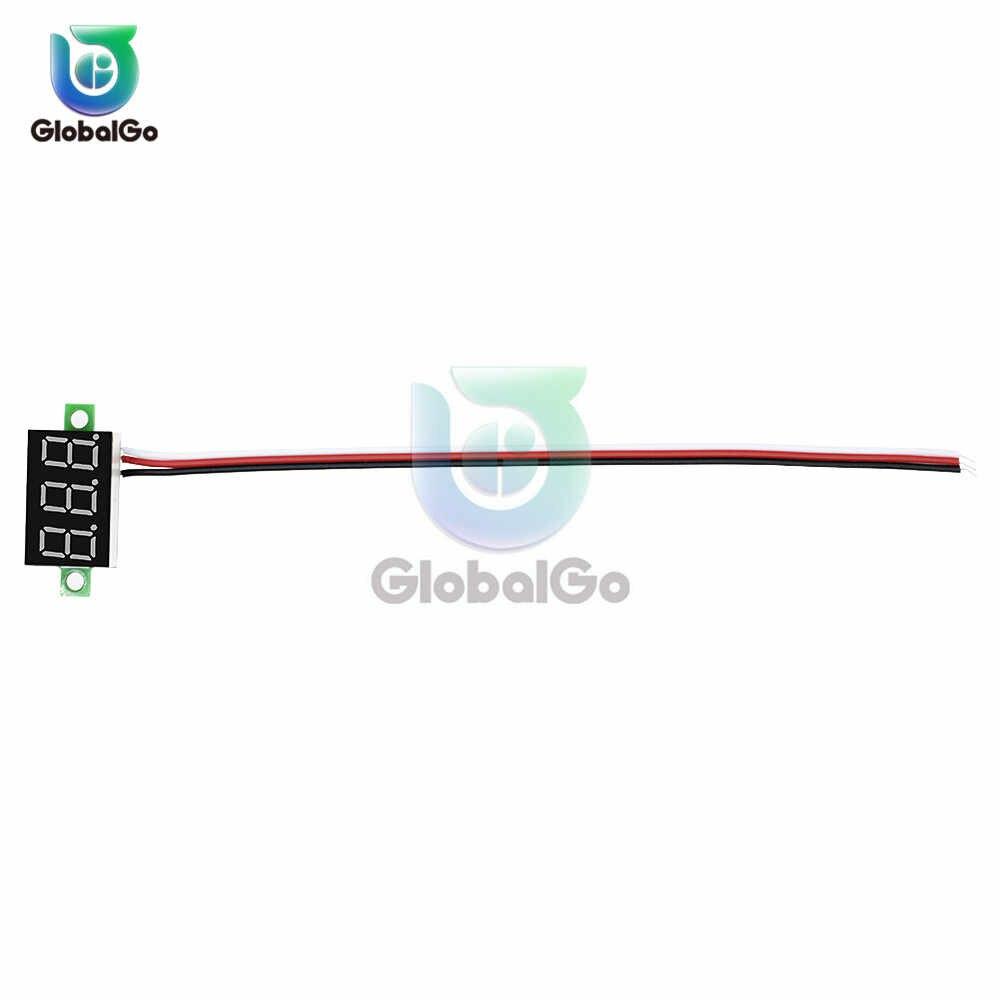 0.36 بوصة 3-سلك الفولتميتر DC 0-30 V السوبر ميني فولتميتر رقمي LED للسيارة الجهد فولت عداد لوحة بطارية رصد 3 -الرقمية