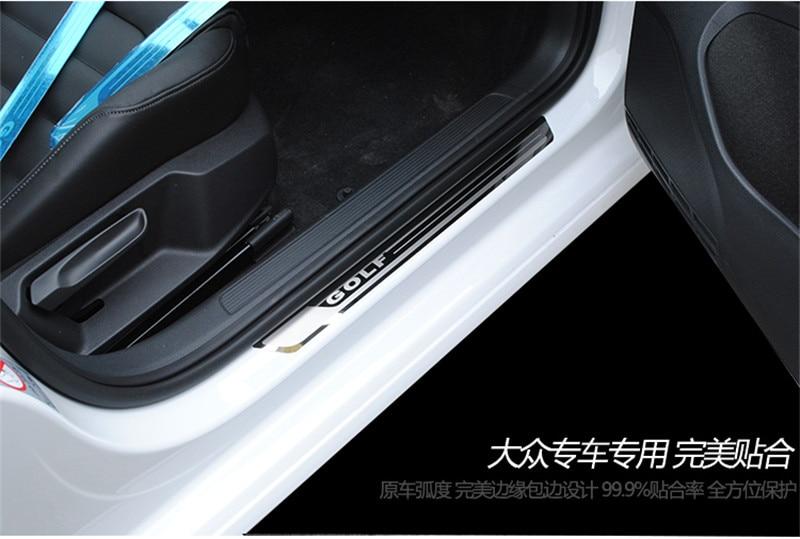 Высокое качество нержавеющая сталь автомобиля Накладка/крышка двери снаружи порога для- Volkswagen Golf 7 стайлинга автомобилей