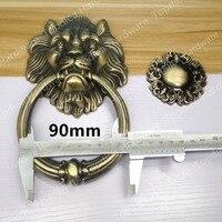 117mm Antique Lion Single Hole Doorknocker Door Knob Door Pull