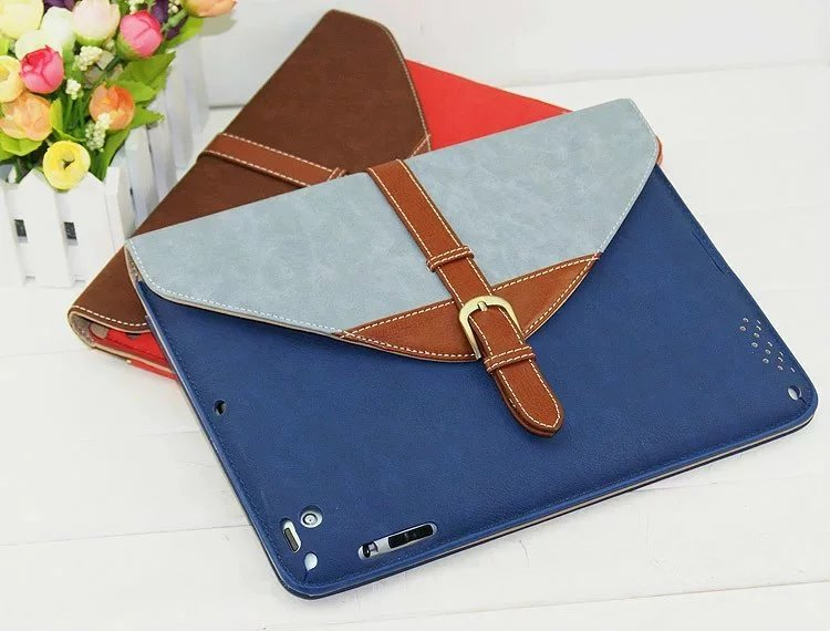 Fashion PU Leather Case Stand Cover for iPad Air 1/2 Case Cover Wake up/sleep 360 rotating Tablet Cover Case For iPad5/6+Gifts