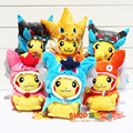 2015 Hot sale 7 styles Pokemon Pikachu Cosplay Charmander Plush Toys Cute Stuffed Animals Soft Toy Fashion Doll Free shipping