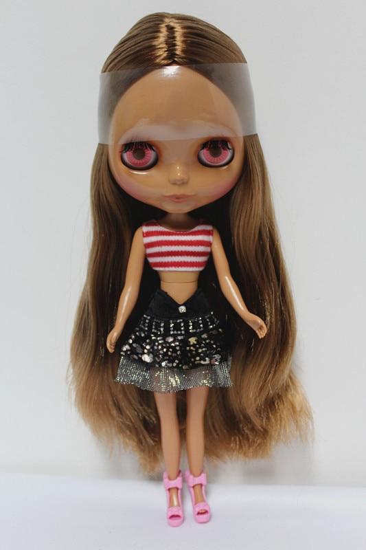 Free Shipping big discount RBL-125DIY Nude Blyth doll birthday gift for girl 4colour big eyes dolls with beautiful Hair cute toy big beautiful eyes косметический набор косметический набор big beautiful eyes