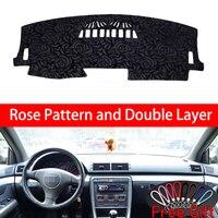 Rose Pattern For AUDI A4 A4L 2003 2004 2005 2008 Dashboard Cover Car Stickers Car Decoration Car Accessories Interior Car Decals