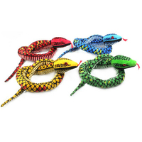 Gloveleya Realistic Stuffed Giant Boa Constrictor Dolls Plush Snake Toys Over 5.5 Feet Long Birthday Gifts for Boys
