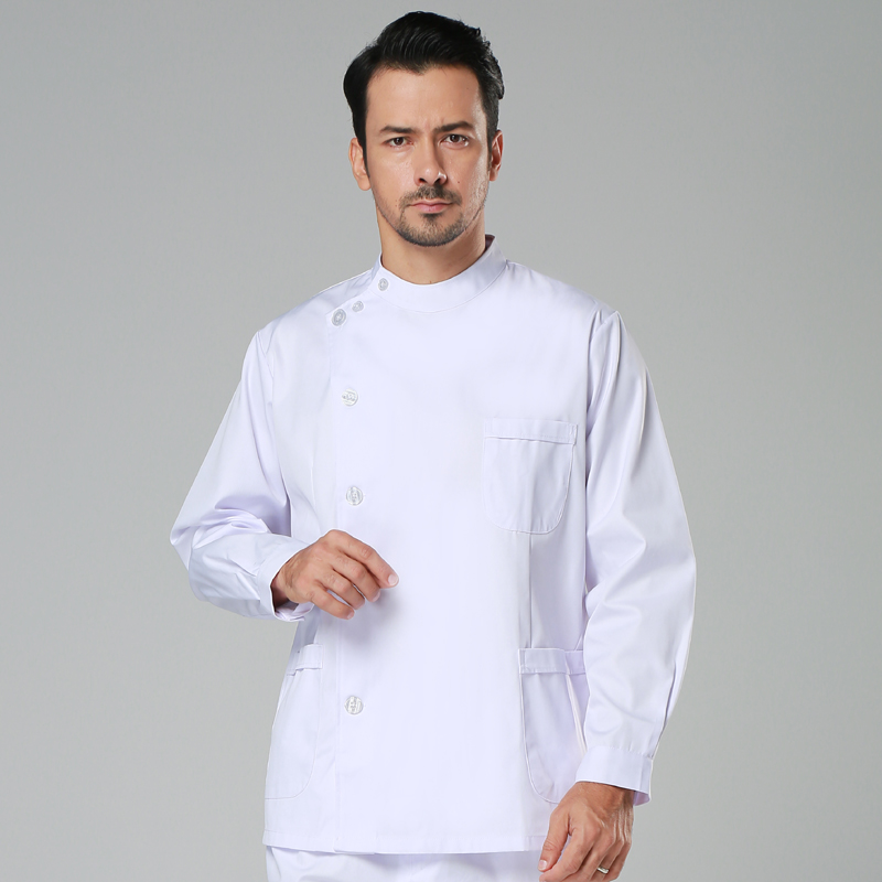 2019 Medical Clothing for Men Work Wear Uniforms Top 35%cotton 65% Polyester Short/long Sleeve Men Lab Coats Clothes