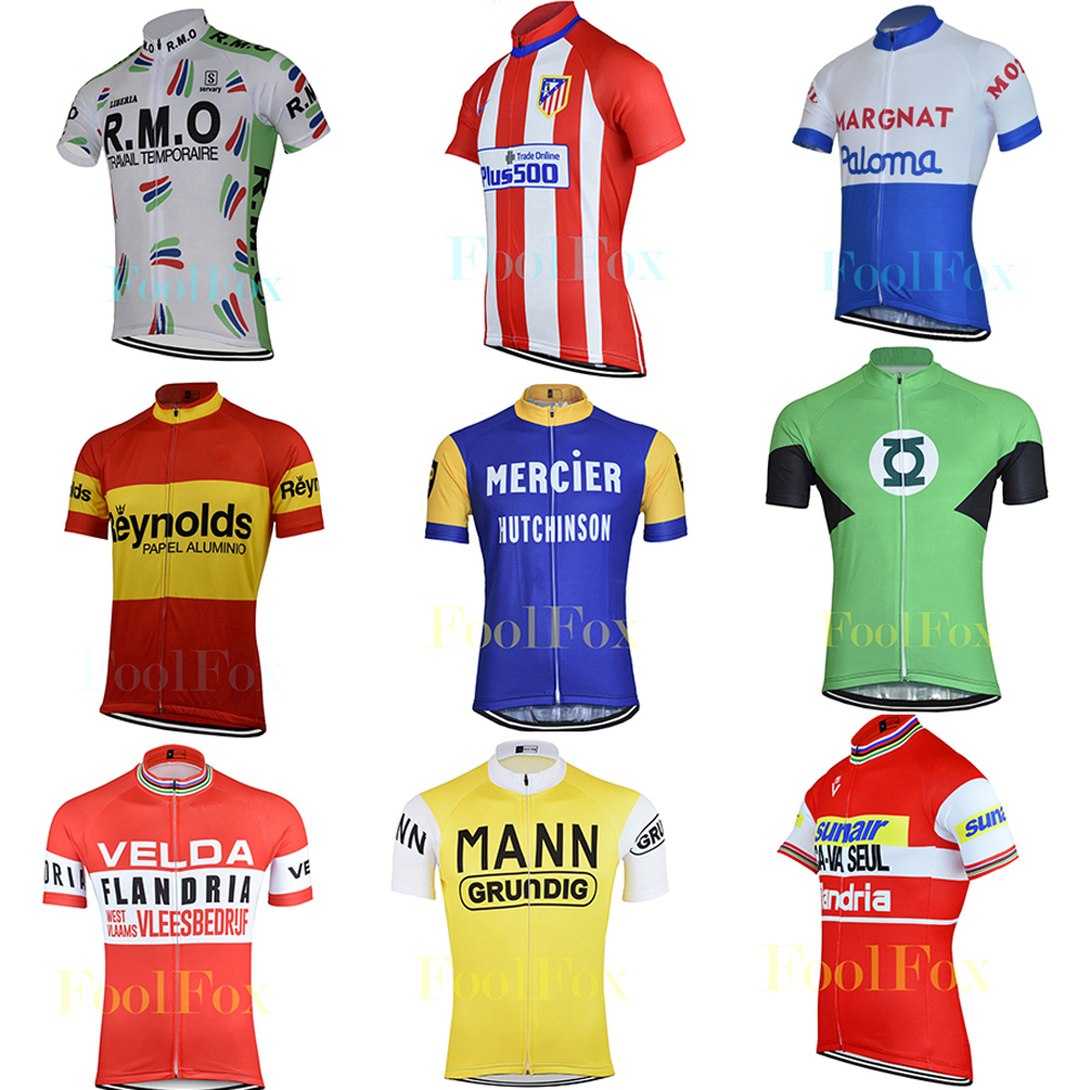 672d08607 2018 men cycling jersey retro short sleeve summer Multicolor cycling top  classic bike wear bicycle clothing quick dry