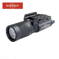 WIPSON X300V Flashlight Waterproof Weapon Light Pistol Gun Lanterna Rifle Picatinny Weaver Mount For Hunting