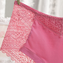 Women's sexy lace panties seamless cotton breathable