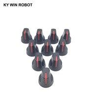 potentiometer knob 10PCS 6mm Potentiometer Plastic Knob Red (3)