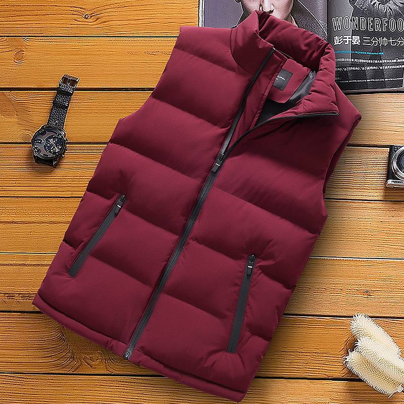classic light men vest down korean streetwear clothing casual travel jackets male cloth vintage winter warm coat vests for men (9)