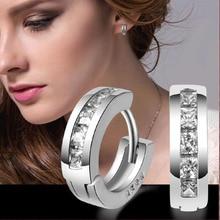 Sterling-silver-jewelry 925 earing pendientes mujer earrings 925 plata stud orecchini oorbellen brincos women jewelry crystal