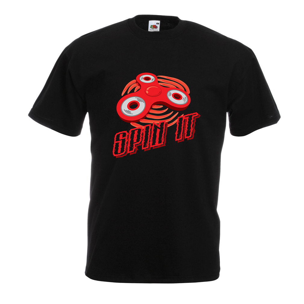 T Shirts for Men Spin It - for Who Loves To Play The EDC Fidget Spinner Fun Toy Different Colours High Quality 100% Fashion