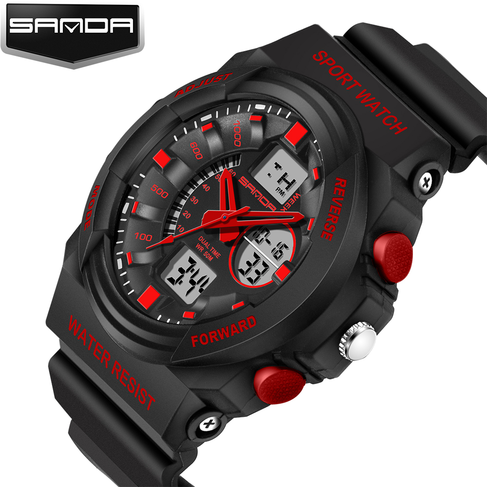 SANDA Fashion Watch Mens Watches 2017 Men G Style Waterproof Sports Military Watches Shock Luxury Analog