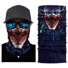 Мотоциклетная Маска Клоун Маска для лица Балаклава мото Байкер Череп маски для лица призрак лыжные банданы для велоспорта тушь для ресниц Moto Motosiklet маска