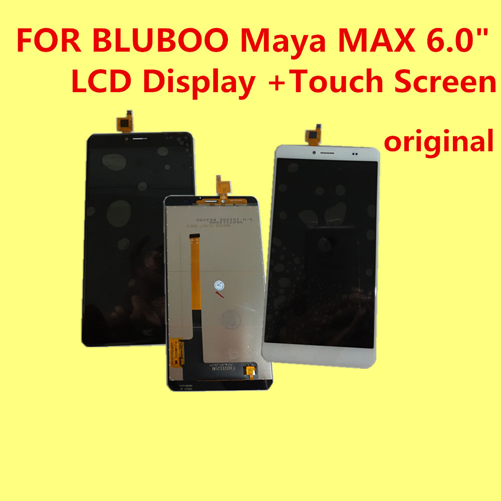 ФОТО FOR BLUBOO Maya MAX LCD Display +Touch Screen 100% Original Digitizer Assembly Replacement Accessories For Phone 6.0