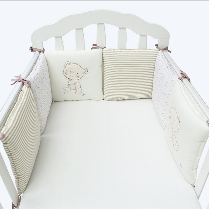 6Pcs/Lot Baby Bed Bumper In The Crib Cot Bumper Baby Bed Protector Crib Bumper Newborns Toddler Bed Bedding Set