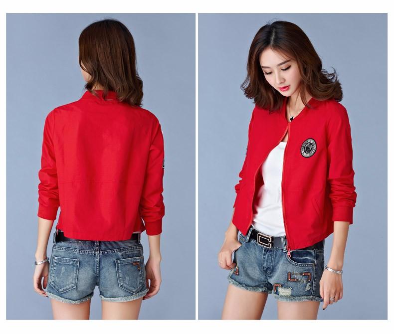 7 Colors Spring Summer Jacket Women Leisure Loose Plus Size Coat O Neck Long Sleeve Autumn Sport Jackets Casaco Feminino 2016 A8 L