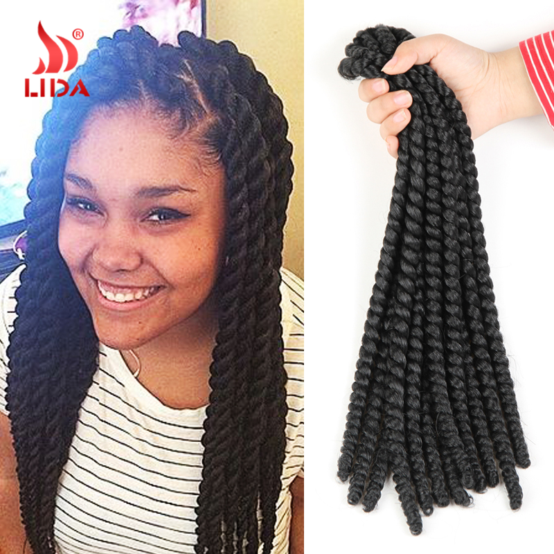 New Hot Medium Box Braids Freetress Bulk Crochet Latch Hook Braiding ...