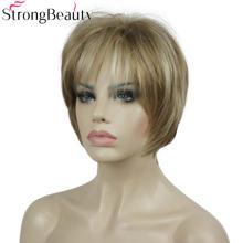 Strongbeauty синтетический парик короткие прямые парики женские