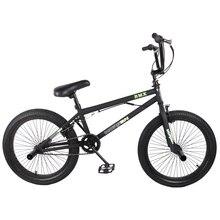 """HILAND 2"""" BMX велосипед Фристайл стальной велосипед двойной суппорт тормоза шоу велосипед трюк Акробатический велосипед"""