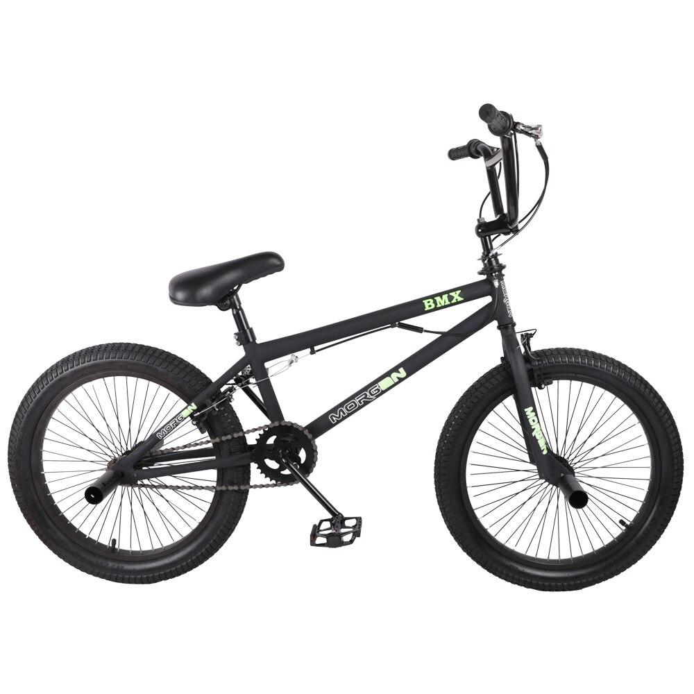 HILAND 20 BMX Bike Freestyle Steel Bicycle Bike Double Caliper Brake Show Bike Stunt Acrobatic Bike