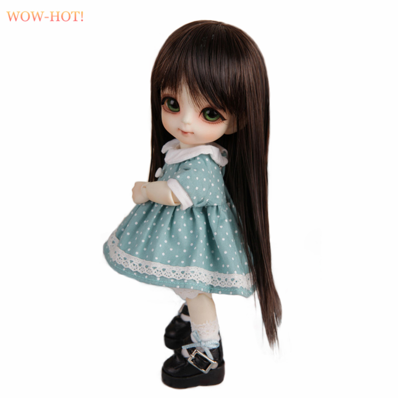 WOWHOT 1/8 Bjd SD Doll Wigs for Dolls High Temperature Wire Long Straight Synthetic High Quality Doll Hair Accessories for Dolls
